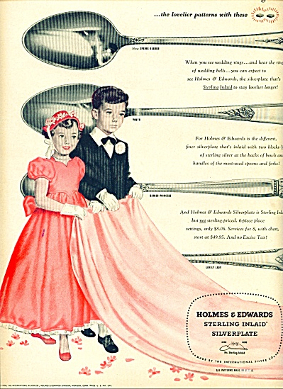 1950 Holmes Edward silverplate ad Flowergirl (Image1)