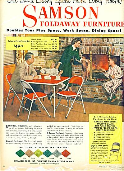 1953 - Samson foldaway furniture ad (Image1)