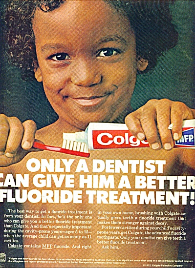 Colgate Tooth Paste Ad 1972 Mh4226
