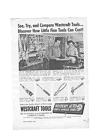 1951 Westcraft Tools By Western Auto Ad (Image1)