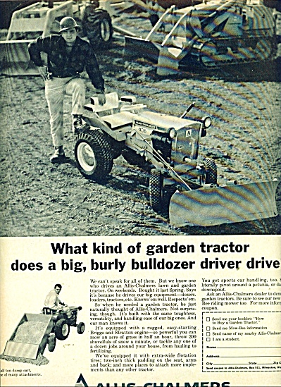 1967 Allis Chalmers Lawn Tractor Ad