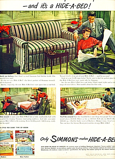 Simmons Hide a bed ad 1949 (Image1)
