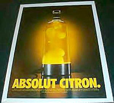 Absolut CITRON Lava Lamp Retro AD (Image1)