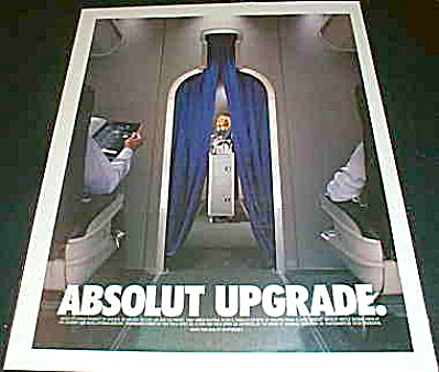 Absolut UPGRADE to First Class Airlines AD (Image1)