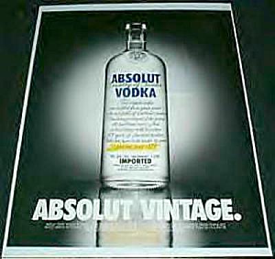 Absolut VINTAGE Vodka Series AD (Image1)