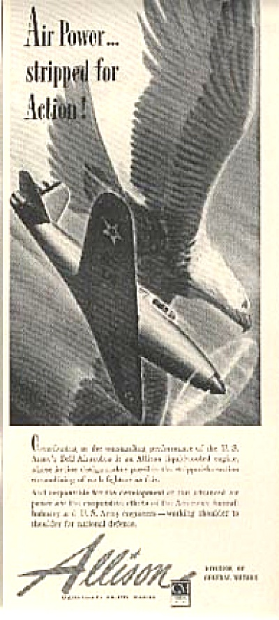 1941 Army Bell Airacobra Allison Aircraft AD (Image1)
