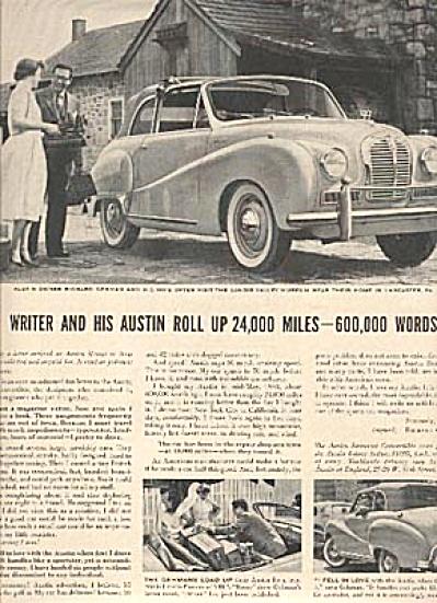1954 Austin Somerset Car AD Estelle Parsons (Image1)