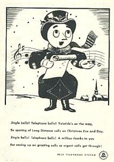 1946 Bell Telephone Merry Christmas Ad