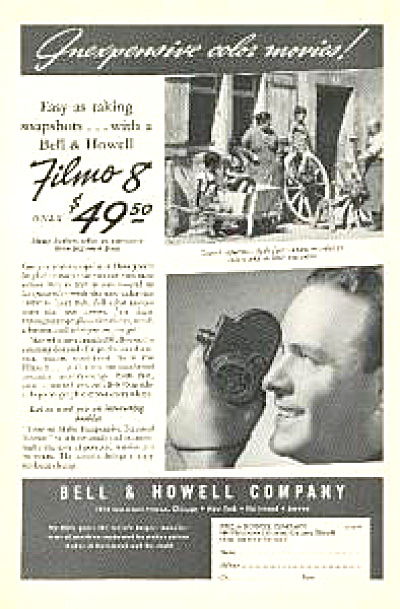 1937 Bell & Howell Filmo 8 Camera AD (Image1)