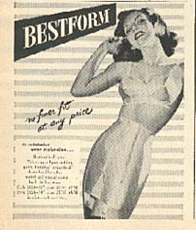 1948 Bestform Bra & Girdle AD Pin Up ART (Image1)