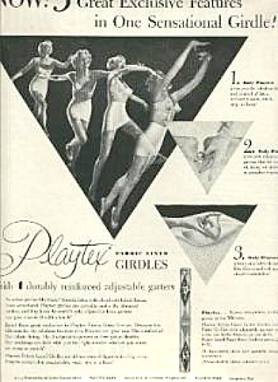 1954 Playtex Dancing Girls Girdle Bra AD (Image1)
