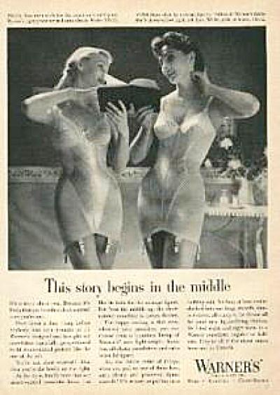 1955 Warners Corselette Bra AD 2 Beauties (Image1)