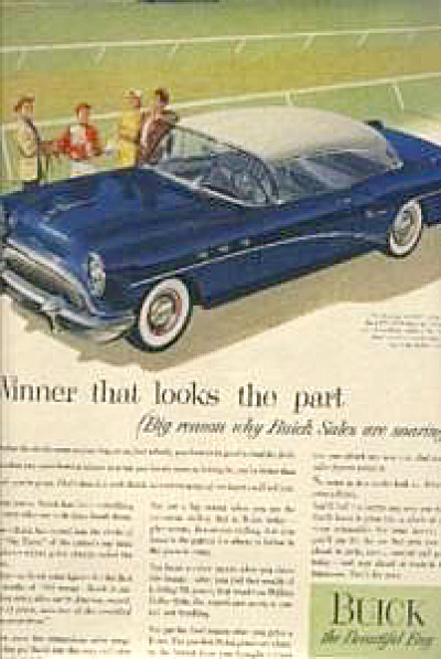 1954 Buick Riveria CAR SPECIAL Original AD (Image1)