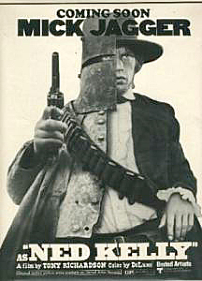 1970 Mick Jagger NED KELLY Movie AD (Image1)
