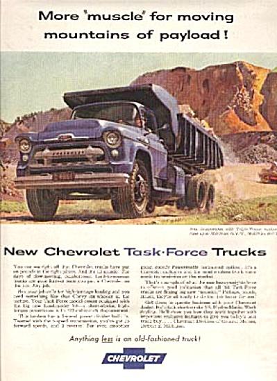1956 Chevrolet Triple Torque Tandem Truck AD (Image1)