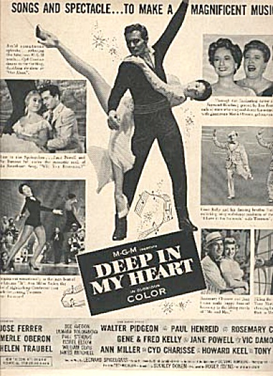 1954 Deep in My Heart MGM Movie AD (Image1)