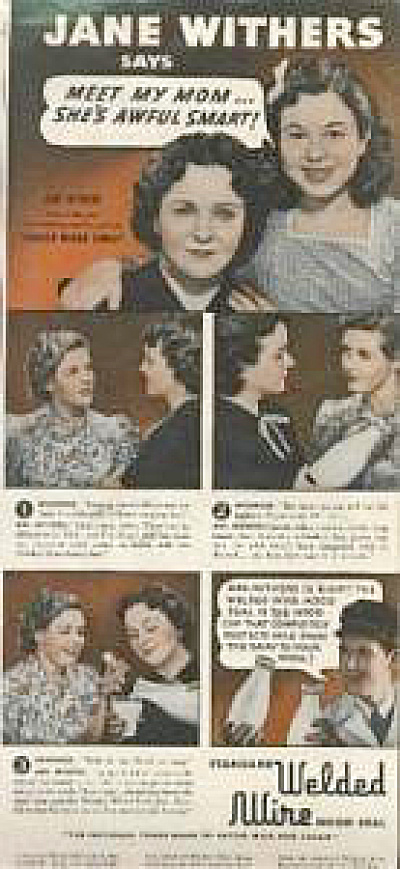1939 Jane Withers Child Star Wire AD (Image1)