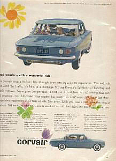 1960 Corvair Chevrolet Car AD (Image1)