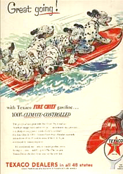 1954 Texaco Dalmation Fire Chief AD Skiing (Image1)