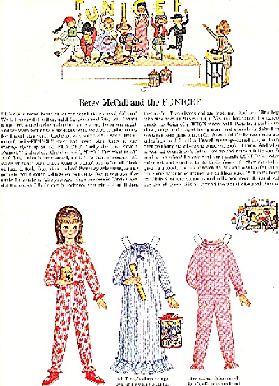 1965 Betsy Mccall And The Funicef Paper Doll
