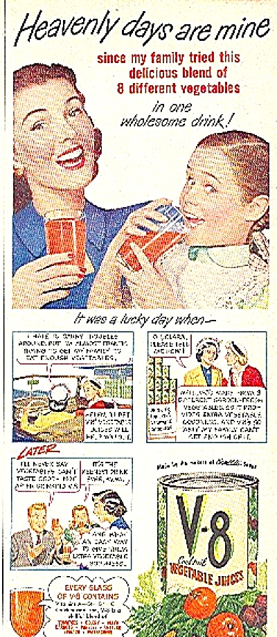 1949 V-8 Vegetable Juice Ad (Image1)