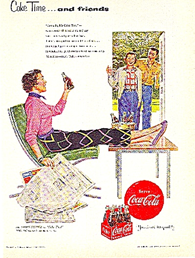 1954 COKE Coca Cola Time and FRIENDS AD (Image1)