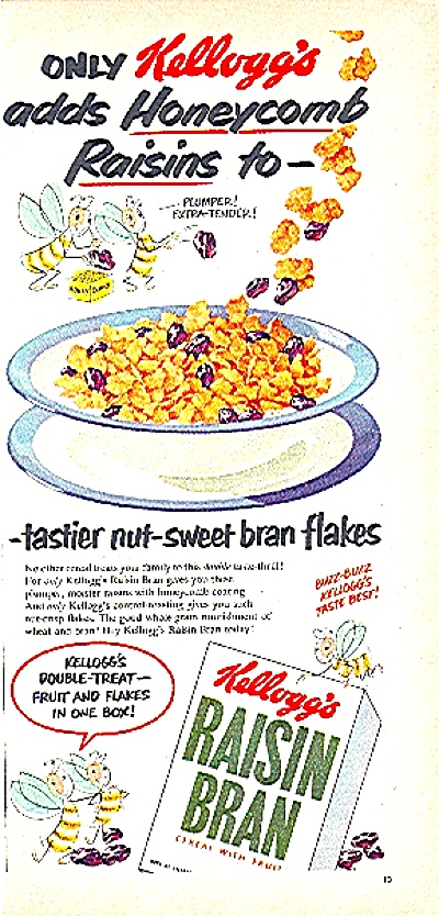 1951 KELLOGG'S RAISIN BRAN CEREAL AD (Image1)