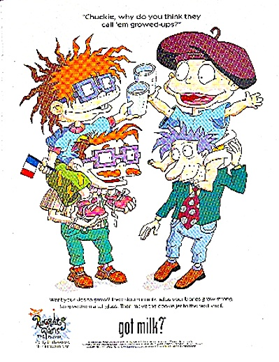 2000 GOT MILK AD featuring the Rugrats (Image1)
