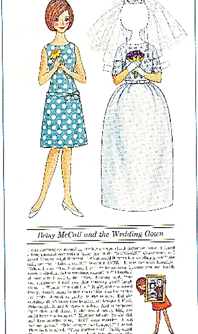 1964 Betsy Mccall And The Wedding Gown Ad