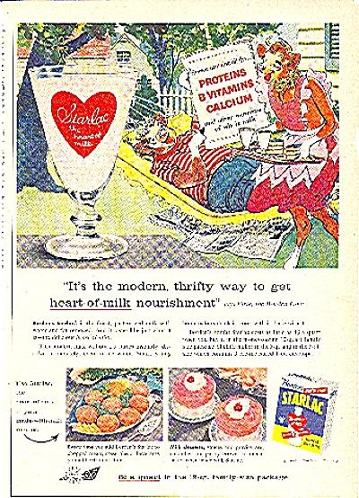 1957 BORDEN'S STARLAC INSTANT MILK AD (Image1)