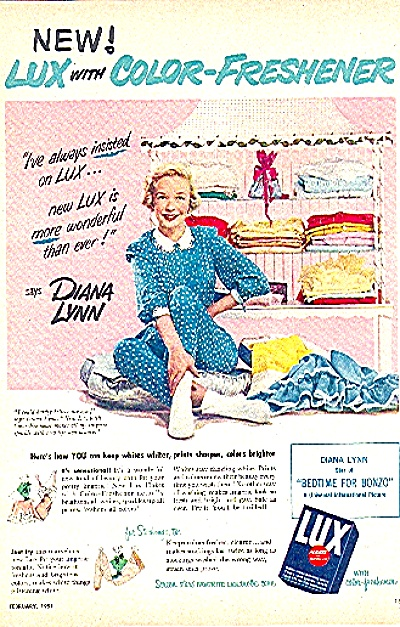 1951LUX SOAP AD FEATURING DIANA LYNN (Image1)