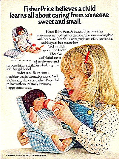 1981 Fisher-price Baby Ann Doll Ad
