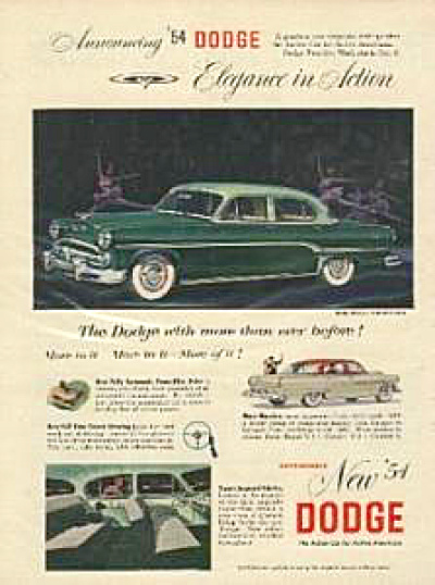 1954 Dodge Royal CORONET Automobile CAR AD (Image1)