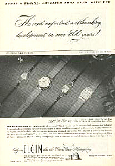 1947 Elgin Lord & Lady Watches Ad