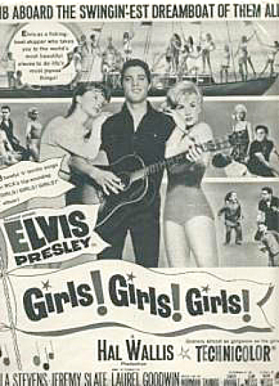 Elvis Presley Girls Girls Girls Movie Ad