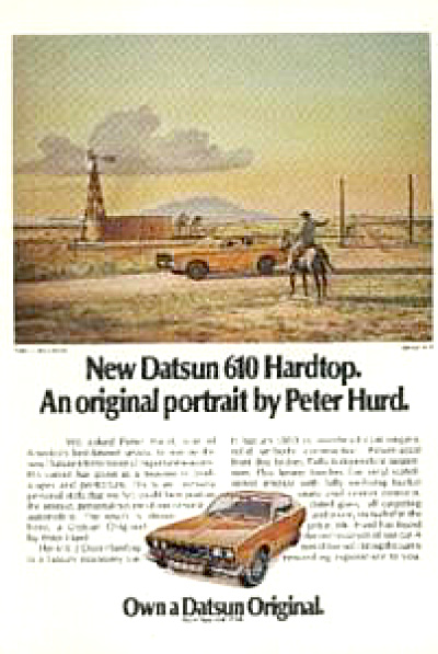Peter Hurd RIGHT ROAD Datsun AD (Image1)