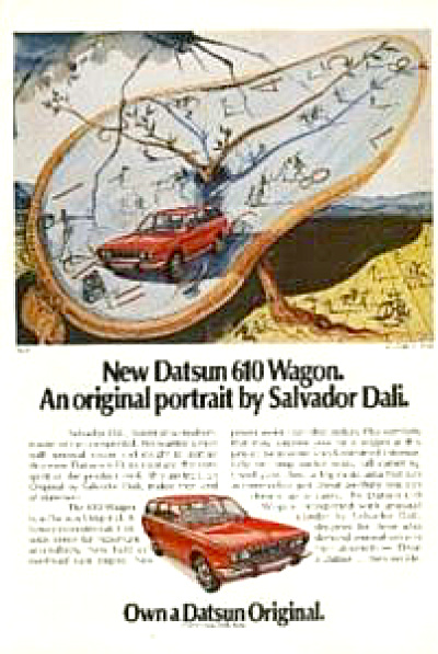 Salvador Dali Original Portrait Datsun AD (Image1)