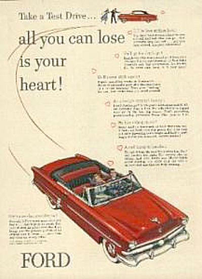 1953 Ford Crestline Convertible Car AD (Image1)