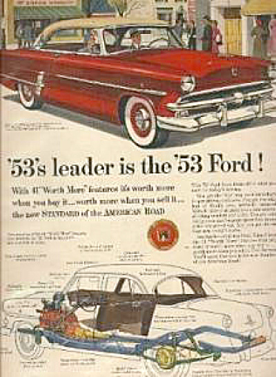 1953 Ford Crestline RED Car AD (Image1)