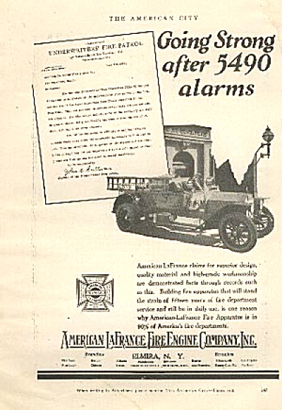 1926 American LaFrance Fire Truck AD (Image1)