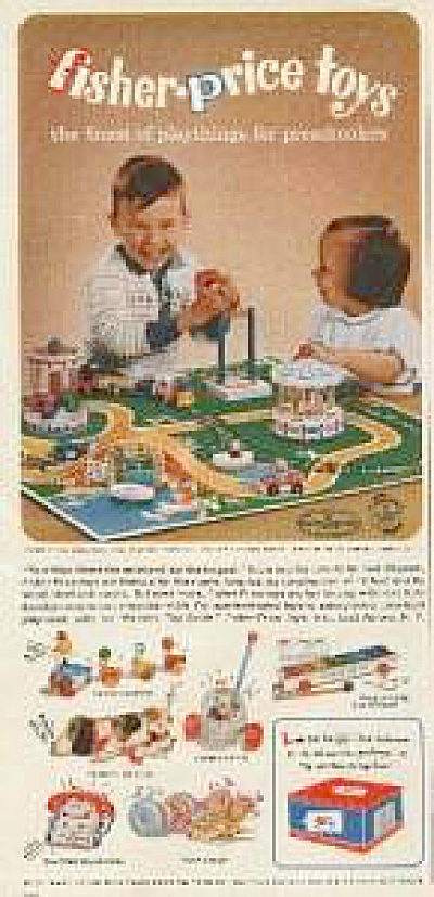 1963 Fisher Price Toys Ad - Snoopy + More (Image1)