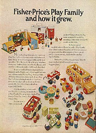 1970 Fisher Price Play Family Toy AD (Image1)