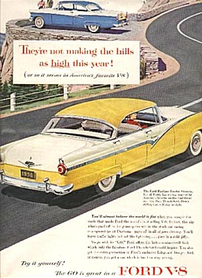 1956 Ford Fairlane Fordor Victoria Car AD (Image1)