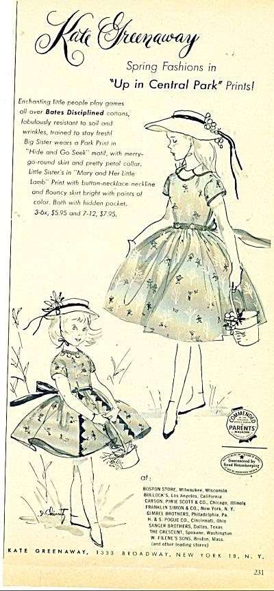 Kate Greenaway spring fashions ad- 1954 (Image1)