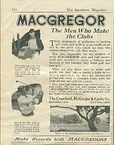 1922 MacGregor Golf Club AD (Image1)