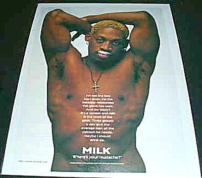 Got Milk Where's Your Mustache? DENNIS RODMAN (Image1)