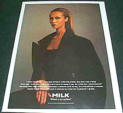 GOT MILK? What a surprise!  IMAN (Bowie) AD (Image1)