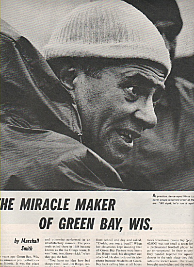 VINCE LOMBARDI, football coach of Green Bay 1962 (Image1)