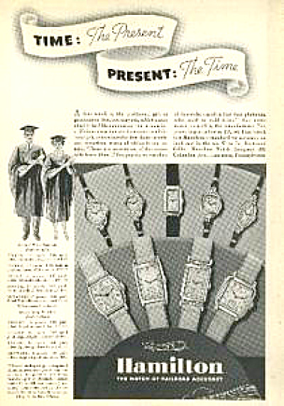 1937 Hamilton Watch AD 9 VINTAGE MODELS (Image1)