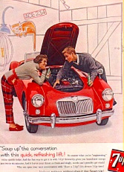 1960 Souped-Up Red Car Seven-Up Ad (Image1)